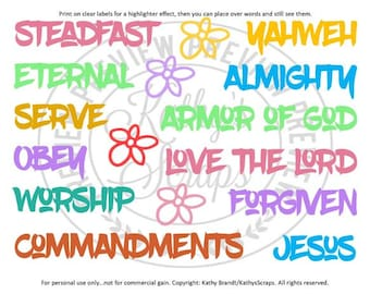 Bible Journal Words 04