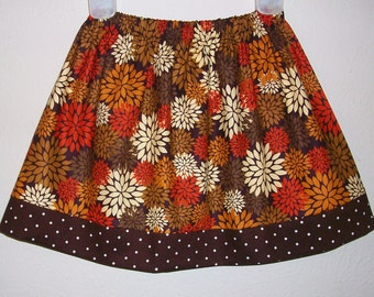 Fall Skirts, Fall Mums, Autumn Skirts, toddler skirts, girls skirts, Fall Clothes, Fall Outfit, Fall Flowers, Floral Skirt for Fall