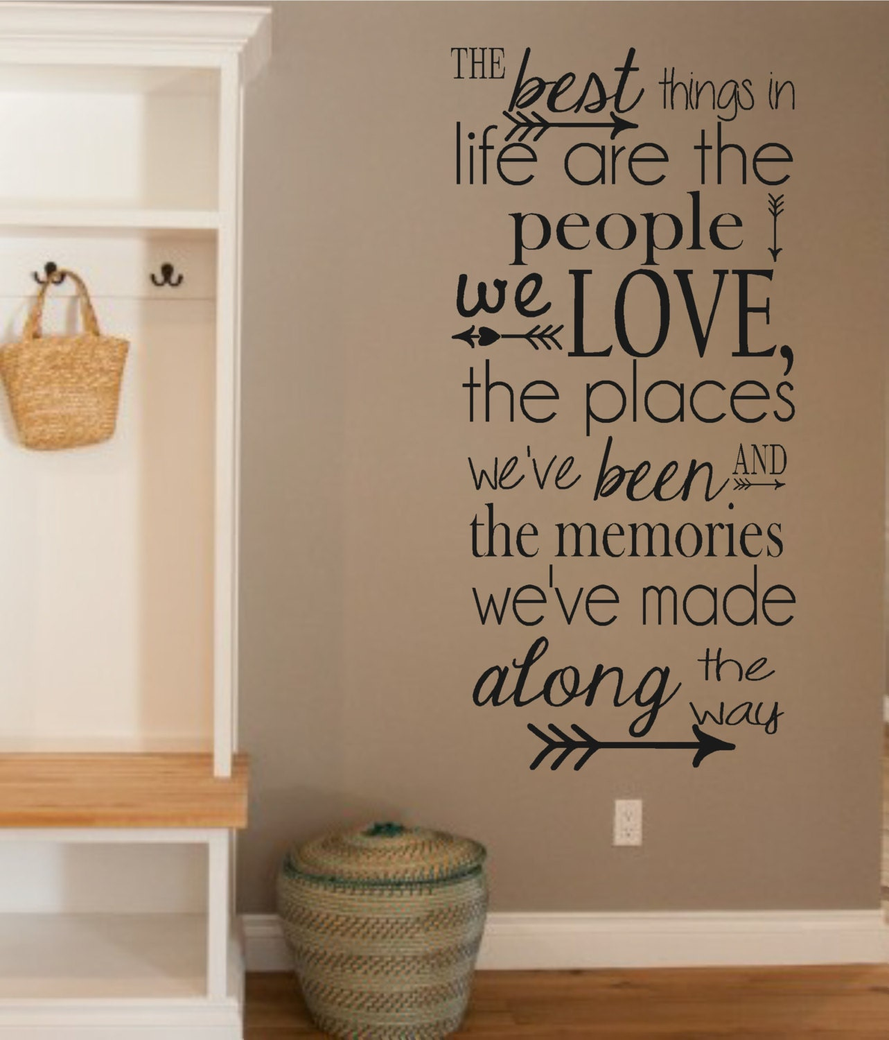 Life Wall Quotes Vinyl Wall Decalthe Best Things In Life People Love