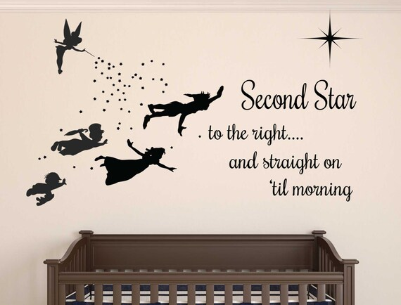 High Quality Peter Pan Wall Decal REMOVABLE