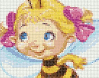 Modern Cross Stitch Pattern, PDF #9 BEE