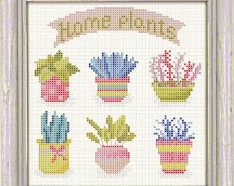 Cross stitch pattern Home Plants