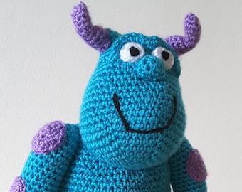 Disney Pixar Inspired 'Monsters Inc-Sulley' Crochet Pattern Only