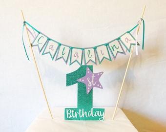 Custom First Birthday Cake Topper | Custom Cake Topper | Cake Topper | Cupcake Topper | First Birthday Cake Topper | Under the Sea Cake Topp