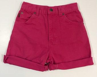 Hot Pink Gitano Jean Shorts - 24 Inch Waist XS - Vintage Jean Shorts - Vintage Cut Offs - High Waisted Shorts - Vintage Gitano Cut Offs