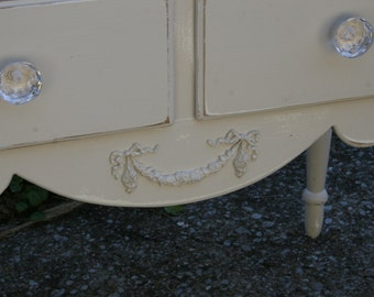 DIY furniture applique - shabby chic applique - onlay - architectural moulding - furniture moulding - swags
