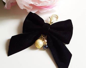 Black Velvet bow TN charm