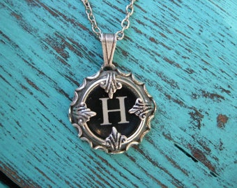 Typewriter Key Jewelry - Typewriter Charm - Letter H