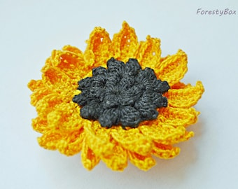 Sunflower brooch flower Mom gift pin Corsage groom boutonniere Sunflower buttonhole Country bridal sunflower Wedding boutonniere rustic boho