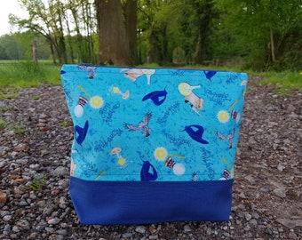 Blue Wizard Zipper Bag