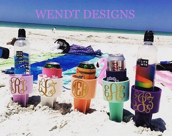 Beach Spiker, Beach Cup Holder, Monogrammed Beach Spiker, Spring Break Beach Cup Holder, Beach Drink Holder, Beach Spike, Drink Holder