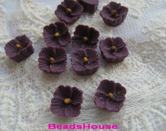 663-02-587-CA  10 pcs  Petite Lilac Cabochon,Amethyst/Yellow