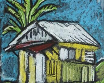 Negril Art - Jamaica Art - Wall Art - Art Print - Mayfield Falls