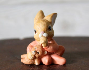 Vintage HOMCO Baby Rabbit with Teddy Bear