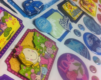 3 sheets of scrapbooking  appliques / stickers
