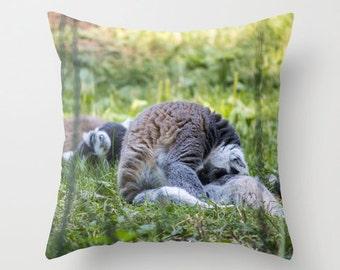 Lemur Photo Pillow cover Throw pillow Cushion cover Pillow case Accent pillow Couch pillow Decorative pillows Animal Photo Lemur 16x16 18x18