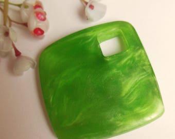 cute plastic green diamond shape