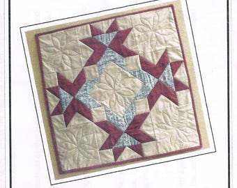 Stars & Flowers Wallhanging Quilt Sewing Pattern - Tablecloth Quilt Pattern - Pieced Quilt Pattern