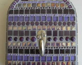 Purple Arch Mosaic Wall Hook, Home Decor, Purple Decor, Housewarming Gift, Hook for Keys, Dog Leash Hook, Hook for Jewelry, Birthday Gift