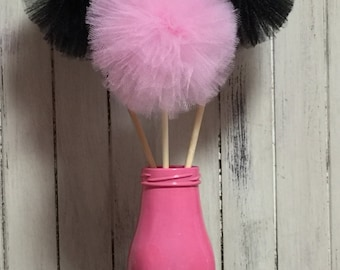 12 Tulle pom poms Centerpiece,Party Decoration,Pom Pom Favors Centerpiece