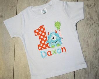 Chevron Monster Birthday Shirt