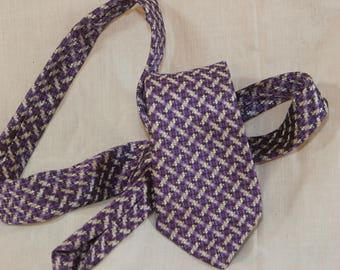 Hand-Made Purple Italian Silk Tie