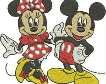 Mickey and Minnie Mouse Machine Embroidery Designs Mickey Mouse INSTANT DOWNLOAD