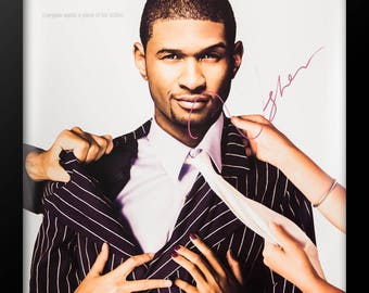 Usher Signed Poster - Custom Framed