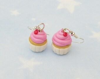 Cherry Cupcake Earrings