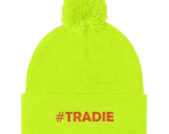 Beanie #tradie - Hi-Vis Yellow