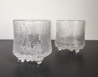 Pair of iittala Ultima Thule 10 oz Double Old Fashioned / Rocks Glasses by Tapio Wirkkala