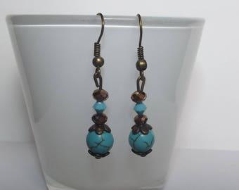 Swarovski turquoise earrings.