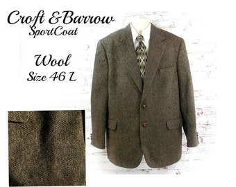 men's wool Sport coat, men's brown blazer, men's sports jacket, men's blazer, brown wool sport coat , # 194