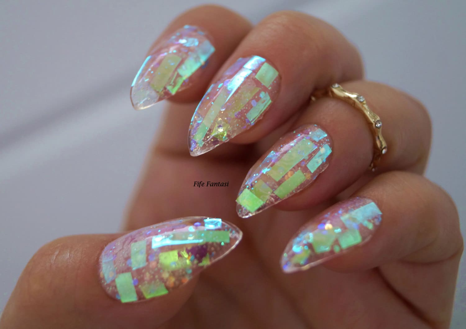 Shattered Glass Nails, Nail designs, Nail art, Nails, Stiletto nails ...