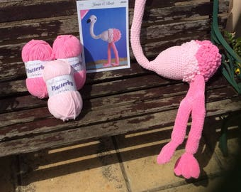 Crochet your own Flo the Flamingo kit