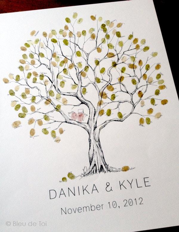 Olive Wedding Tree Fingerprint Tree Alternative Wedding