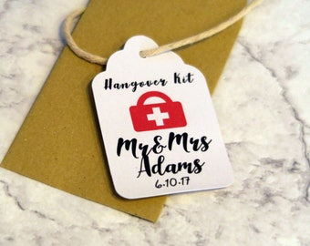 10 Custom Hangover Kit Tags