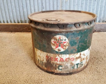 Texaco Lubricant Bucket Vintage Old Man Cave Decoration Car