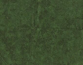 Tissu coton uni marbré de verts foncés deux tons
