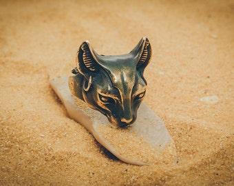 "Bronze handmade ring ""Bastet"""
