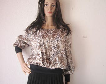Vintage 80s satin blouse Blouse oversize