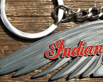 Indian motorcycle metal keychain / keyring   7 x 3 cm