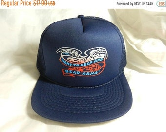 Spring Sale Vintage 1980s New Old Stock The Right to Keep and Bear Arms  Hat