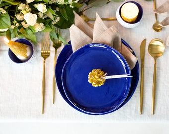Blue dinnerplate mediterranean style slab plates Handmade dinner plate perfect for Texas weddings. & Greek dinnerware   Etsy