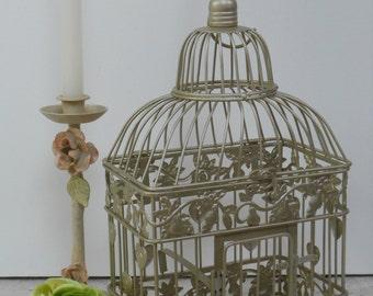 Small Champagne Gold Wedding Birdcage Card Holder | Champagne Gold Birdcage | Gold Wedding Decor | DIY Wedding Birdcage
