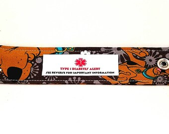 Medical Alert Bracelet Kids ID Wristband  Adjustable Fabric Bracelet Autism Safety Bracelet Allergy Alert Clothing Scooby Doo
