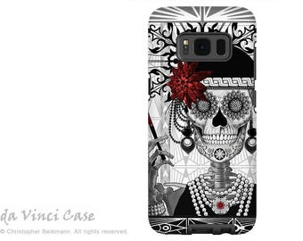 Flapper Girl Sugar Skull Galaxy S7 Case - Premium Dual Layer Samsung Galaxy S 7 Case with 1920's Day of The Dead Art - Mrs Gloria Vanderbone