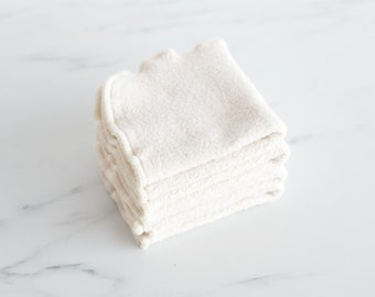 Organic Natural Sherpa Washcloth, Dish Cloth, 1 Ply, Available in Two Sizes