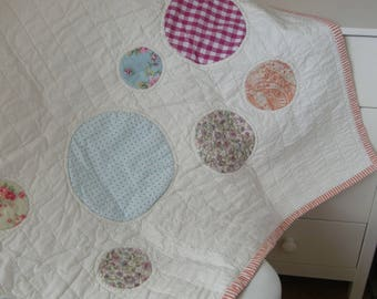 Bubbles, Circles, Spots and Dots Baby Quilt