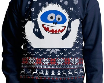 SNOWMAN CHRISTMAS SWEATER --- Yeti Abominable Ugly Christmas Sweater -- -- pullover sweatshirt -- s m l xl xxl xxxl